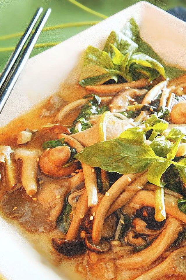 禧福會-綜合菇類料理(金針菇、柳松菇、杏飽菇、香菇)