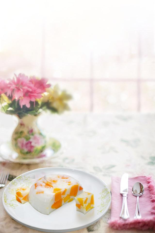 芒果牛奶果凍