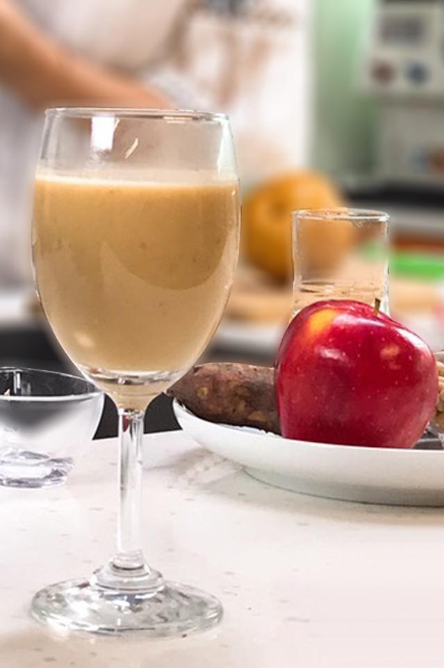 地瓜撞蘋果豆漿拿鐵|高纖抗癌補體力